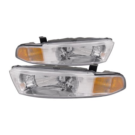 1999-2001 Mitsubishi Galant New Headlights Set Driver Left Passenger Right Headlamps Pair Assembly MI2502111 & MI2503111