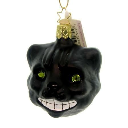 Cheshire Cat Halloween Face Paint (Inge Glas CHESHIRE CAT Glass Ornament Halloween)