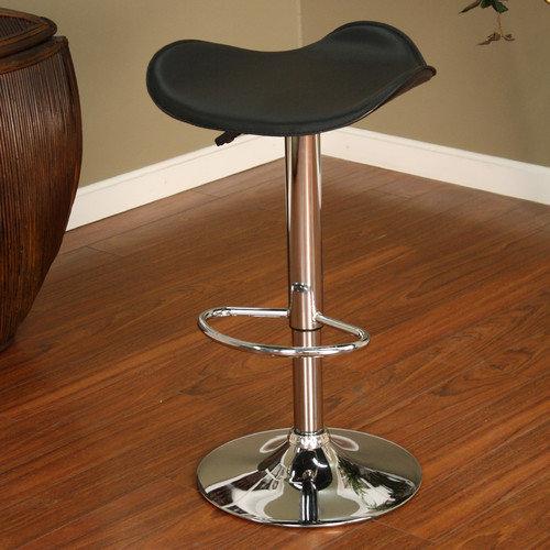 American Heritage Sloan Adjustable Height Swivel Bar Stool with Cushion
