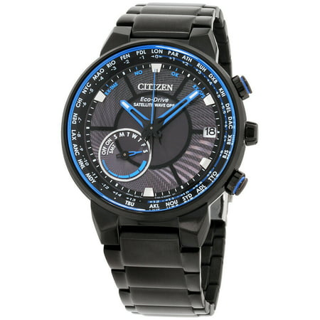 Citizen Satellite Wave GPS Black Dial Stainless Steel Men's Watch CC3038-51E