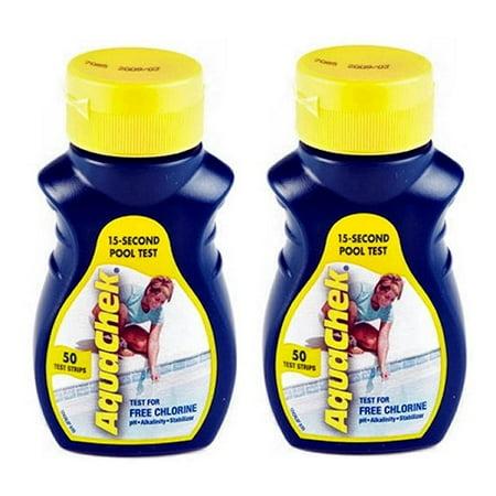 2 Aquachek Yellow Swimming Pool Spa Chlorine 4 In 1 Test