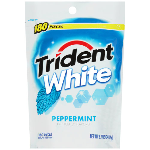 Trident White Peppermint Sugar Free Gum, 180 count