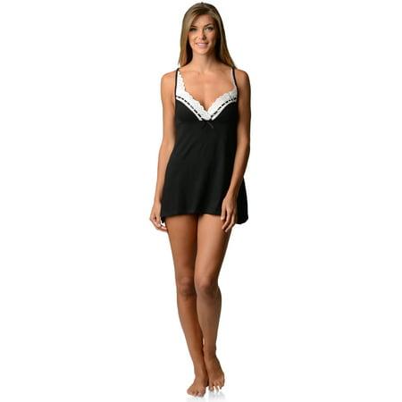 Casual Nights Women's Sleepwear Eyelet Lace Sweatheart Chemise Nightie Slip ()