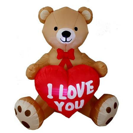 BZB Goods Inflatable Love Bear Yard Decoration