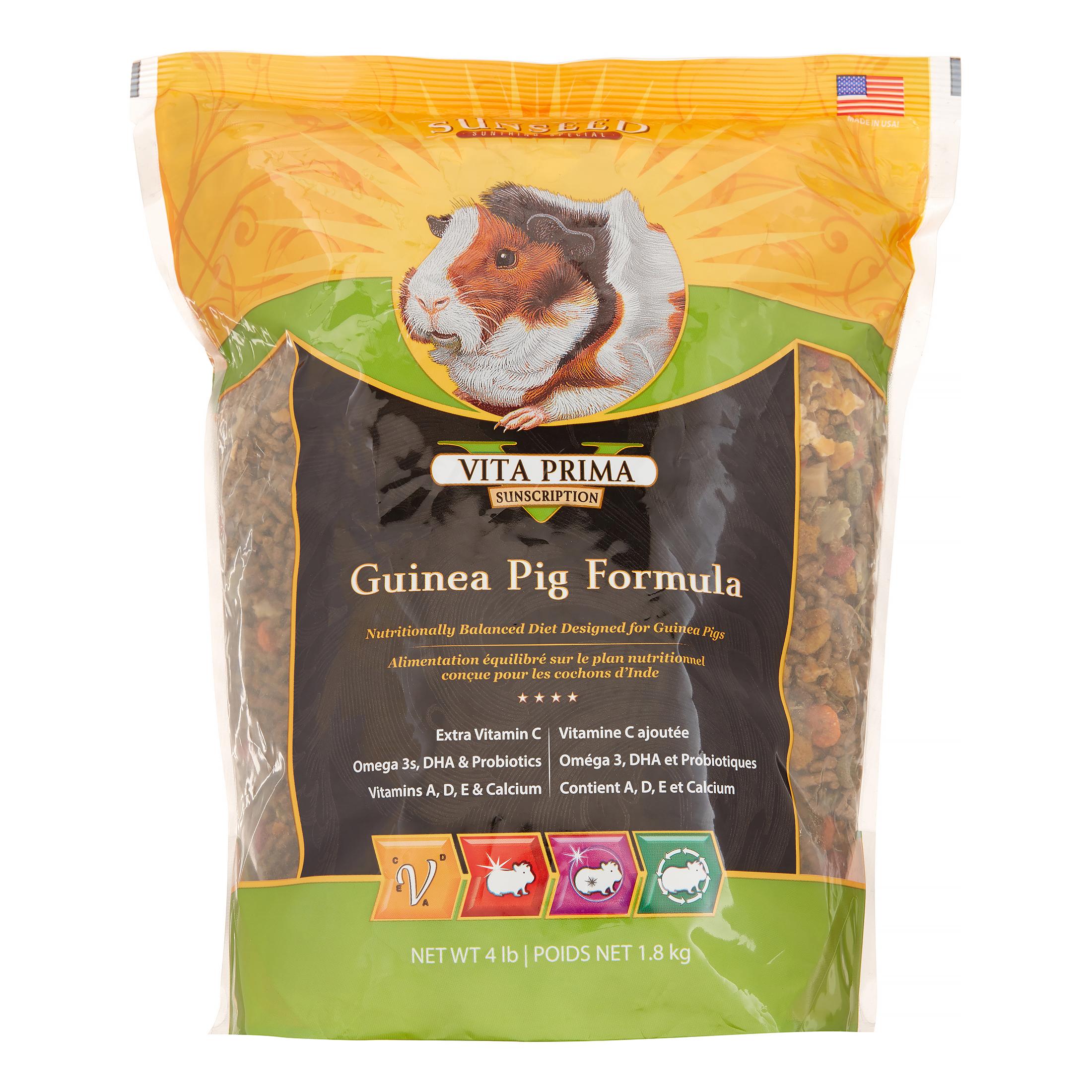 Sunseed Vita Prima Guinea Pig Formula Dry Guinea Pig Food, 4 Lb