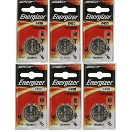 6 Pack Energizer CR2450 ECR2450 CR 2450 3V Lithium Coin Cell Button Battery