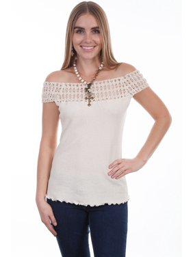 140f523c03 Product Image Scully Western Shirt Womens Off the Shoulder Short Sleeve  PSL-214