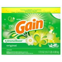 Gain Original, Powder Laundry Detergent, 172 Oz 150 loads