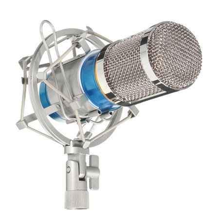 - BM800 Pro Condenser Microphone Kit, Studio Recording Microphone with Shock Mount Holder, Audio cable, BOP cover