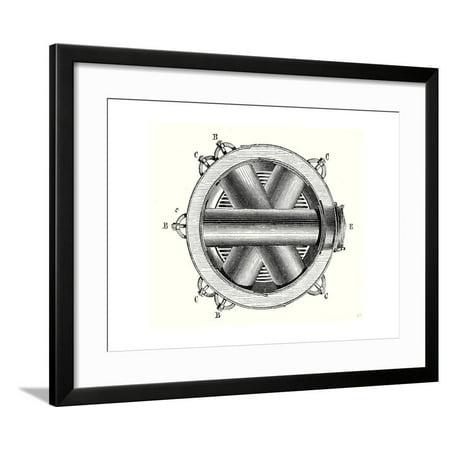 Horizontal Cross - Horizontal Cross Section of M. Hermann-Lachapelle's Crossed Boiler Reboiler Framed Print Wall Art