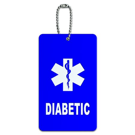 Graphics and More Diabetic - Medical Emergency - Star of Life ID Card Luggage (Cpap Medical Equipment Carry On Luggage Tag)