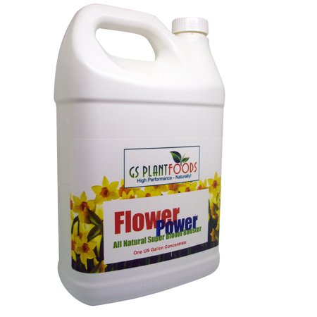 Flower Power All Natural Organic Super Bloom Booster Flowers Nutrient Super Food, Works as Both Indoor / Outdoor Flowering Power Fertilizer - 1 Gallon of