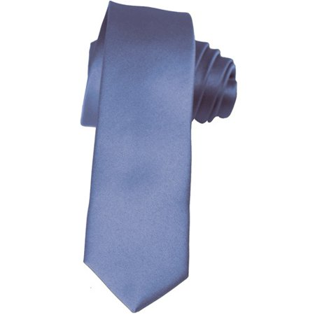 cf9956169e49 K. Alexander - Skinny Steel Blue Ties by 2 Inch Solid Mens Neckties -  Walmart.com