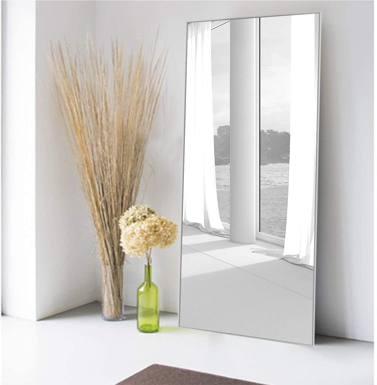 Full Length Mirror Decor Wall Mounted Mirror Floor Mirror Dressing Mirror Make Up Mirror For Bathroom Bedroom Living Room Dining Room Entry Silver 47 X 22 Walmart Com Walmart Com