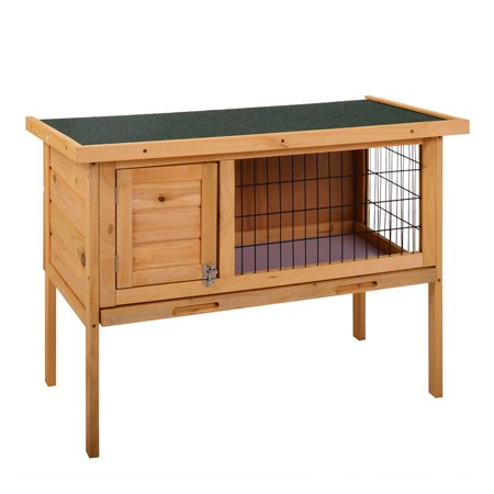 Large Chicken Coop Wooden Outdoor Garden Backyard Bunny Rabbit Small Animal Hen Cage Rabbit Hutch with Run