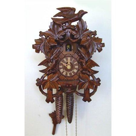 1 day wooden cuckoo clock in antique finish - Wooden cuckoo clocks ...