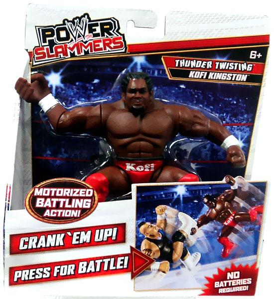 WWE Wrestling Power Slammers Thunder Twisting Kofi Kingston Action Figure