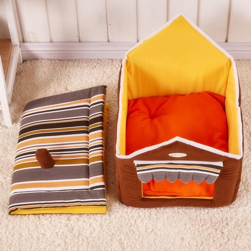 Comfy Dog House Bed| (Foldable) + FREE Car Seat Belt - image 4 de 6