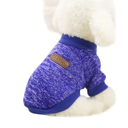 Pet Dog Jacket Winter Warm Puppy Cat Knitted Sweater Jumper Coat Clothes (Free Knitting Pattern Dog Coat)