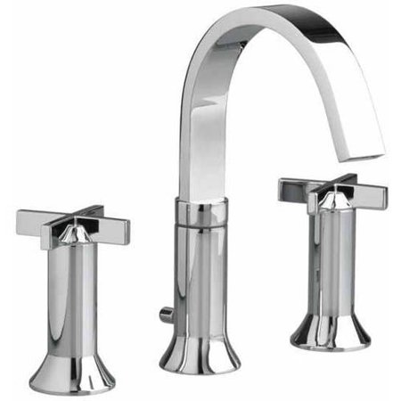 American Standard 7430.821.002 Berwick Widespread Lavatory Faucet with Metal Cross Handles and Metal Speed Connect Pop-Up Drain, Available in Various Colors