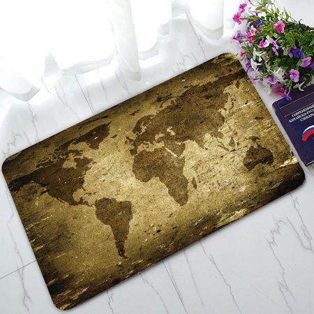 - PHFZK Vintage Doormat, Ancient World Map Doormat Outdoors/Indoor Doormat Home Floor Mats Rugs Size 30x18 inches