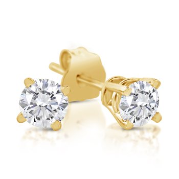 SK Jewel 1/3ct Diamond 14k Gold Stud Earrings + $51.35 Credit