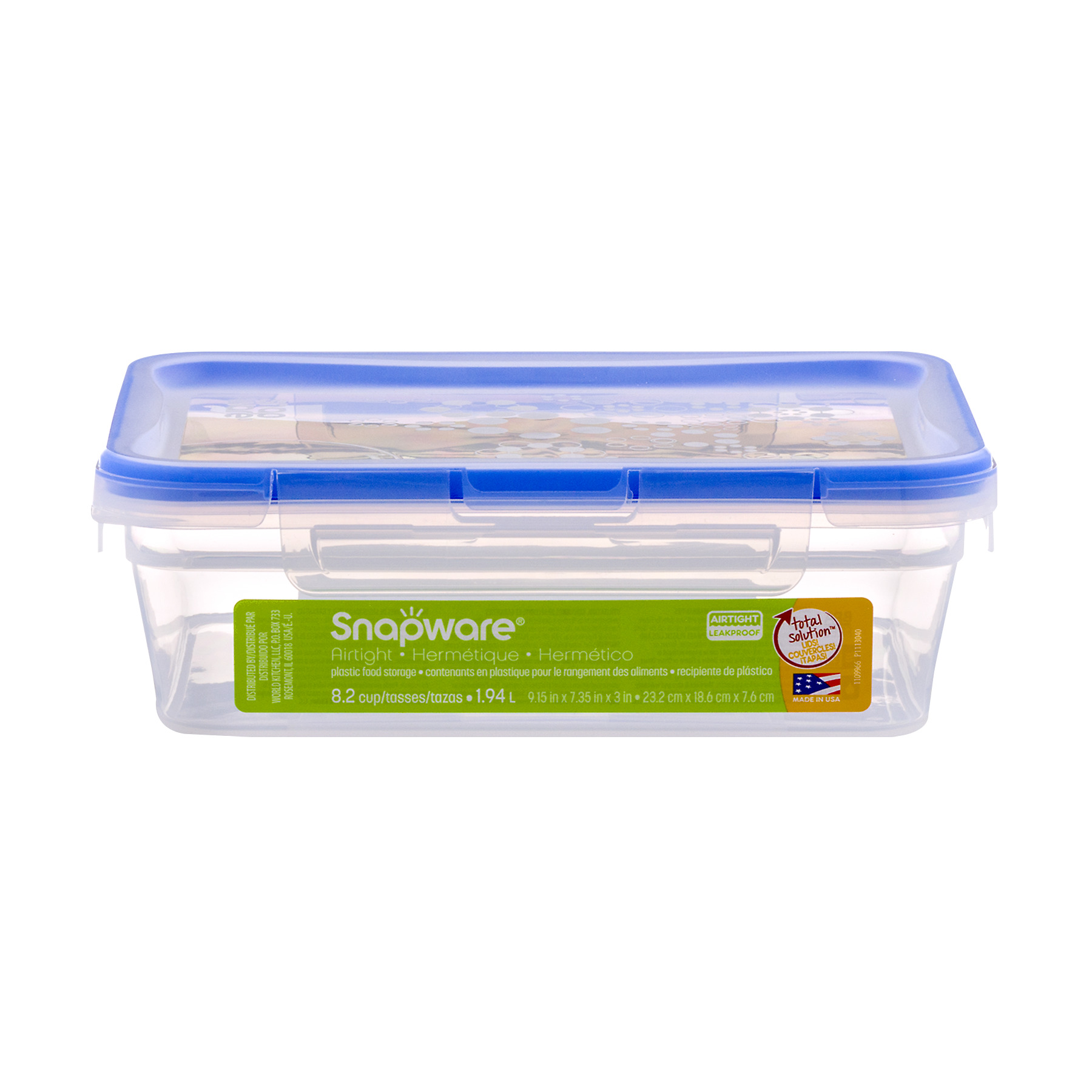 World Kitchen, Inc Snapware Airtight Leakproof Plastic Food Storage, 1.0 CT