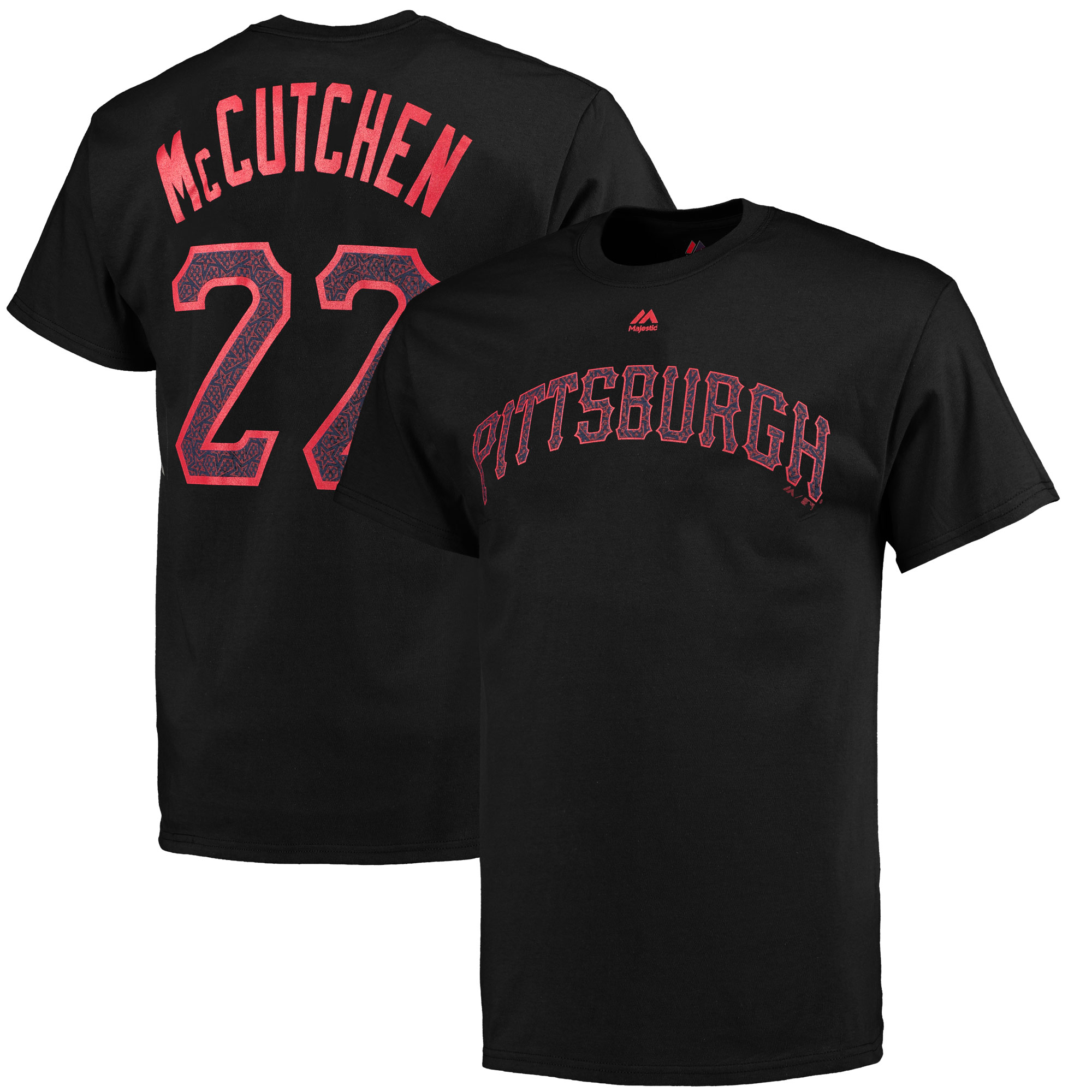 Andrew McCutchen Pittsburgh Pirates Majestic Stars & Stripes Name and Number T-Shirt - Black