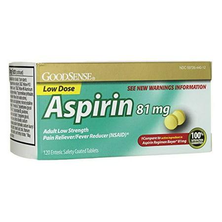 Guard 120 Tabs - Good Sense Aspirin Low Dose 81 mg 120 Tabs