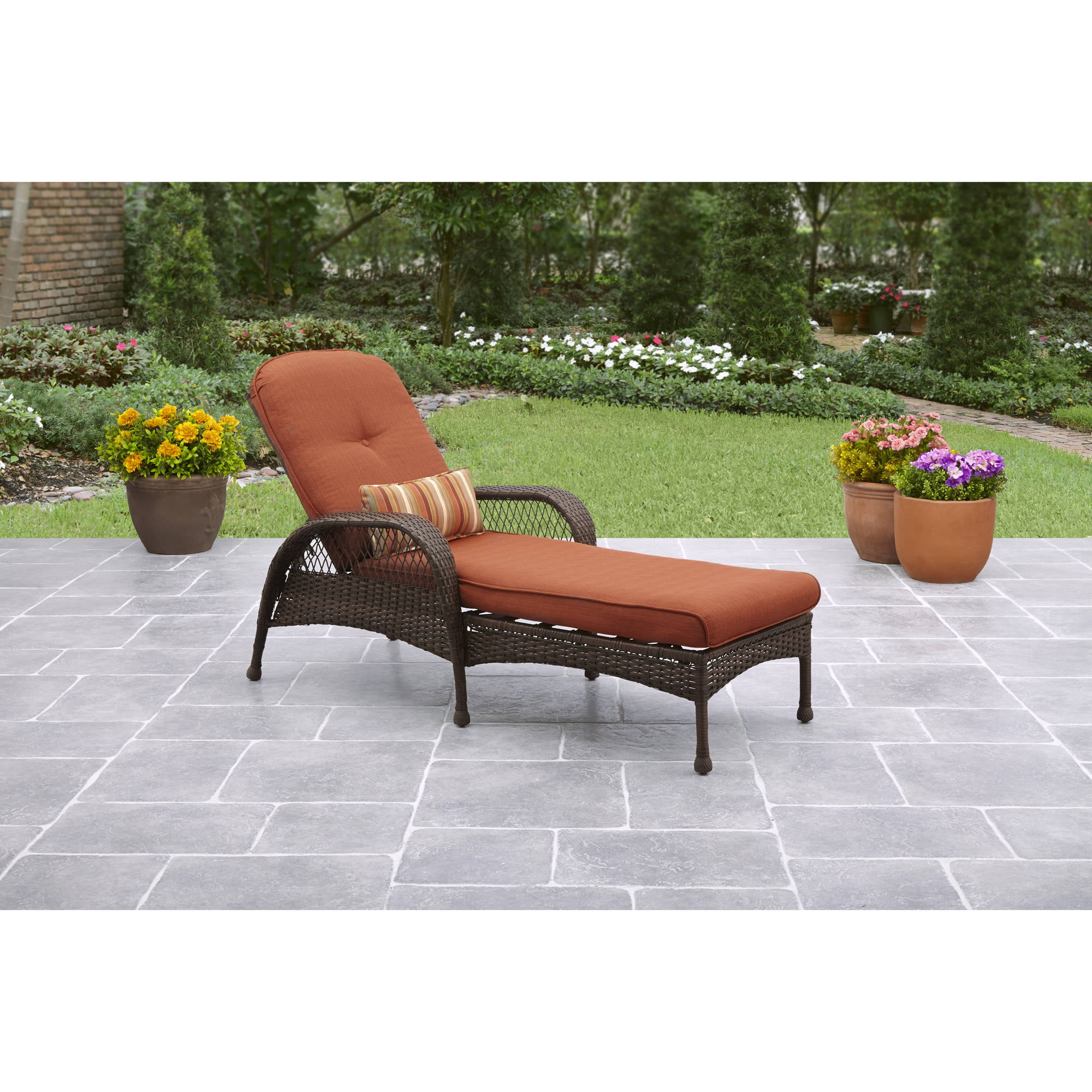 Better Homes Gardens Azalea Ridge Outdoor Chaise Lounge Walmart Com