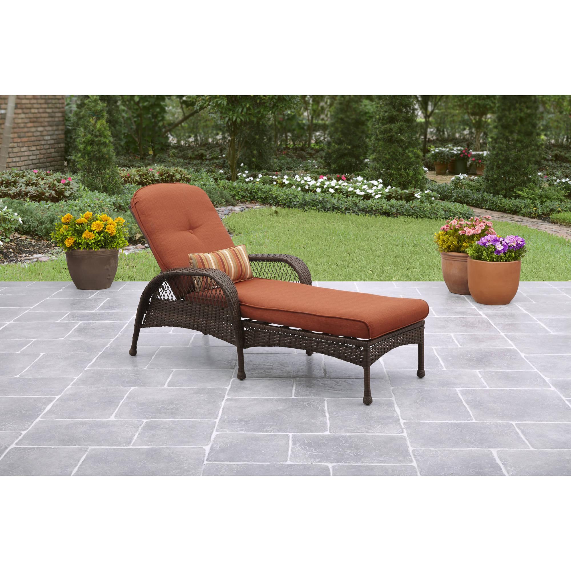 Better Homes and Gardens Azalea Ridge Outdoor Chaise Lounge