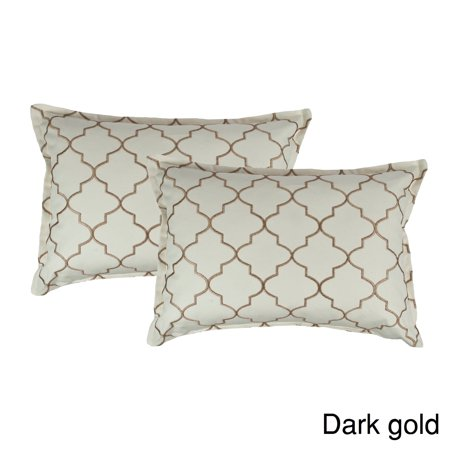 Sherry Kline  Westbury Embroidered Reversible Boudoir Decorative Throw Pillow (Set of - Boudoir Set