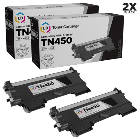 Compatible Brother Set of 2 TN450 High Yield Toner Cartridges TN-450 TN420 TN-420 MFC-7240 MFC-7360N MFC-7365DN MFC-7460DN MFC-7860DW HL-2240 HL-2130 HL-2132 HL-2220 HL-2230