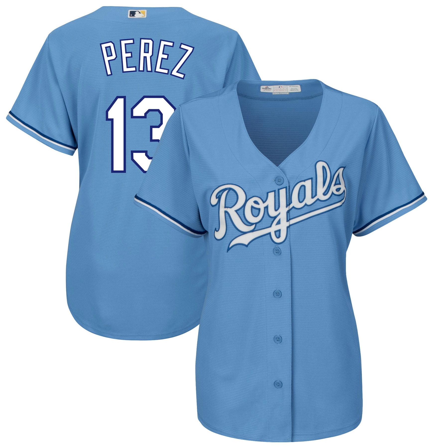 Salvador Perez Kansas City Royals Majestic Women's Alternate Cool Base Player Jersey - Light Blue