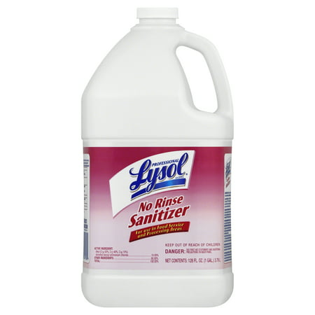 Professional Lysol No Rinse Sanitizer, 128oz