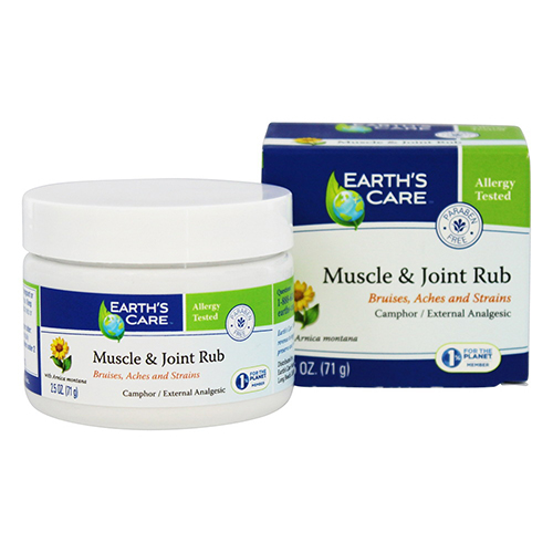 Earths Care Muscle And joint Rub With Arnica Montana, 2.5 oz