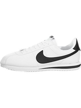 Nike Men Cortez Basic Leather white black-metallic silver Size 6.0 US
