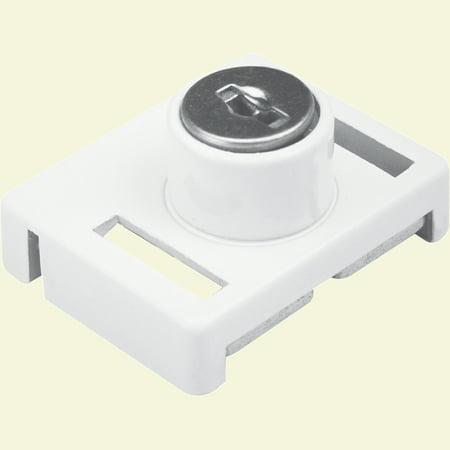 Prime-Line Products U 9839 1-23/32 in. White, Keyed Sliding Window