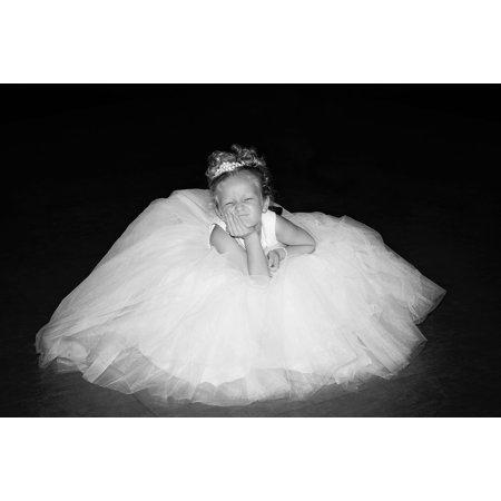 - LAMINATED POSTER Gown Child Wedding Portrait Dress Flower Girl Poster Print 24 x 36