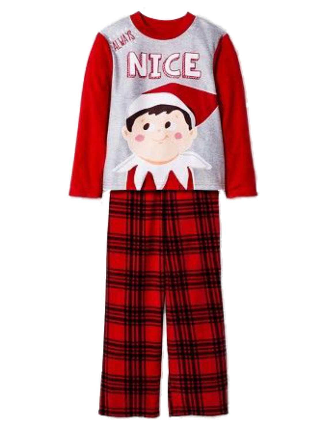 The Elf On The Shelf Boys Fleece Always Nice Christmas Pajamas Sleepwear Set