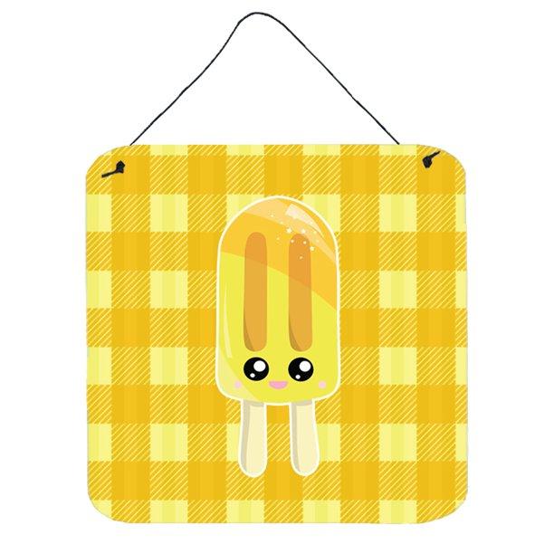Ice Pop Popsicle Face Gingham Yellow Wall Or Door Hanging Prints Bb7069ds66 Walmart Com Walmart Com