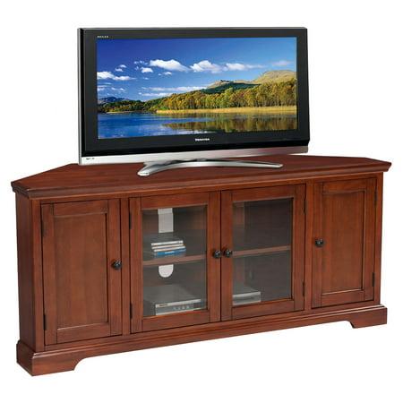 56u0022 Corner TV Stand Cherry - Leick Home