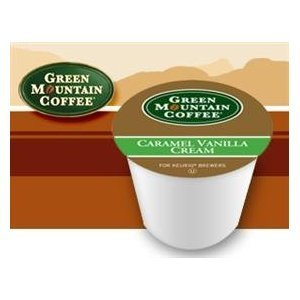 Green Mountain Flavored Coffee Caramel Vanilla Cream 3 Boxes of 24 (Green Mountain Caramel Vanilla Cream K Cups)