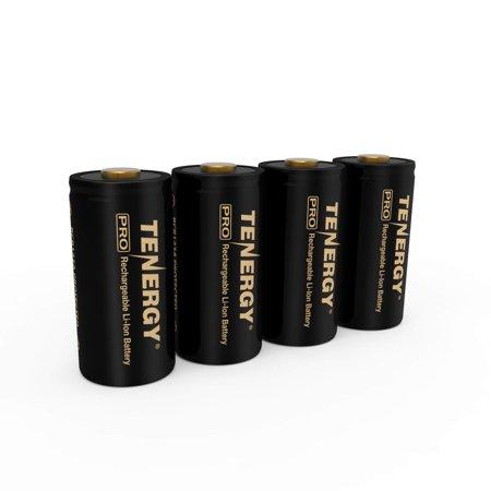 Arlo Certified: Tenergy Premium High Capacity 750mAh 3.7V Arlo Battery Li-ion RCR123A Rechargeable Battery for Arlo Cameras (VMC3030/VMK3200/3500/VMS3130/3230/3330/3430/3530) UL UN Certified 4-Pack (Premium Li Ion Battery)