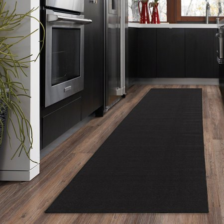 Ottomanson Ottohome Collection Solid Hallway Wedding Aisle & Kitchen Non Slip Rubber Backing Area or Runner Rugs (Aisle Runners Cheap)