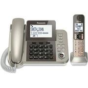 Panasonic, PANKXTGF350N, Corded/cordless Phone/Answering Machine, 1, Silver,Black