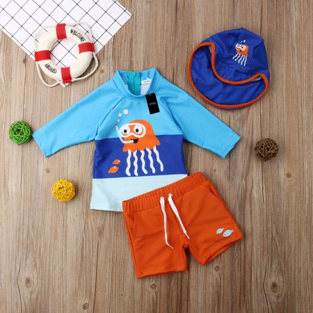 Boys Sunsuit - Toddler Kid Baby Boys Bikini Set Swimwear Swimsuit Bathing Suit Surf UV Sunsuit