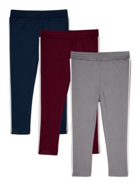 Garanimals Baby and Toddler Boys Taped Sweatpants, 3-Pack