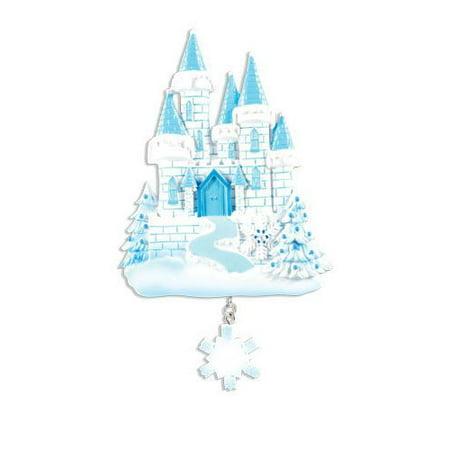 Frozen Castle Personalize It Yourself Christmas Tree Ornament (Personalized Shelf)