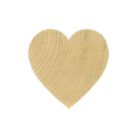 Shape Cut Out - Brand New WH1212-10 wooden Heart Shape / Cut Out Bag of 10